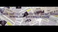 AE模板 每日经济新闻包装视频 广告时尚杂志报纸宣传视频