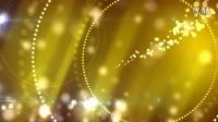 金色粒子空间中的绚丽背景展示AE模板