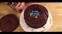 华丽而且美味 MM豆彩虹蛋糕制作教程