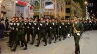 中国解放军在俄罗斯莫斯科街头胜利日阅兵彩排游行