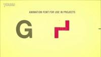 AE模板 2868-英文字母数字动画组合AE模板