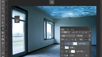 [PS]Photoshop教程创意合成室内游水的美女 PS教程