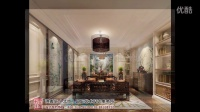 北京棕榈滩别墅新中式样板间装修案例效果图