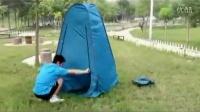 更衣帐篷打开和折叠方法中冀户外
