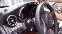 奔驰C200仪表盘卡管安装