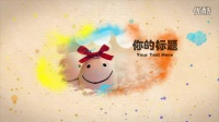 ZD系列 会声会影视频展示 小清新彩色水墨