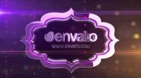 AE模板-紫色时尚E3D三维Logo文字展示 E3D Title Logo Reveal