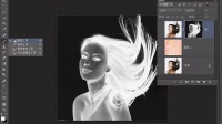 [PS]PS教程73 为长发美女换背景Photoshop教程PS抠图PS调色PS合成