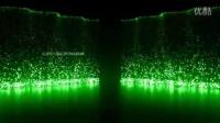 草绿色粒子瀑布 婚庆婚礼现场LED大屏幕背景动态视频素材