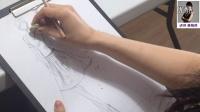 服装效果图示范1:彩铅手绘 BY鹿晓鸥