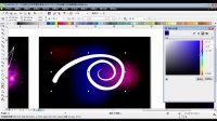 CorelDRAW教程、CDR印章制作、CDR基础教程幻彩墙面背景