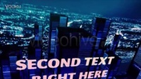 AE模板2964-三维城市夜景科技矩阵展示AE模板