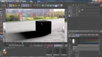 AE C4D 二维动画与实景结合 纸龙穿梭03