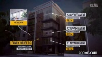 视频素材文字说明连线条标注相关产品介绍信息AE模板