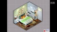 卧室床组合 3D装修设计图 二居室 三居室 室内装修设计服务家装简约施工装修简约CAD