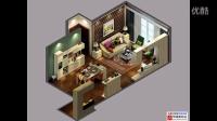 客厅装饰柜 3D装修设计图 二居室 三居室 室内装修设计服务家装简约施工装修简约CAD