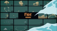 AE模板编号-3563 能量火烟雾水元素2D动画素材包