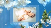 樱花盛开唯美浪漫温馨家庭照片婚礼相册展示AE模板