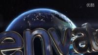 环球影业电影片头工程文件太空地球演绎标志动画AE模板