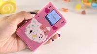 儿童定位手机凯蒂猫男女学生可爱卡通超薄超小迷你低辐射卡片手机