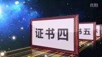 宣传片专题片荣誉证书展示动画AE模板
