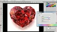 PS教程 淘宝美工水晶变化色值
