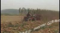 玉米秸秆割晒机视频
