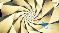 7208唯美万华镜三维棱锥体循环收缩镜头动态素材