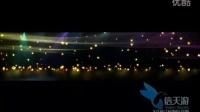 3188金子星星发光体粒子线条光斑多彩鲜艳流星雨梦幻视频素材