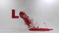 3079[素材TV] 玫瑰花瓣飘散婚礼片头高清AE模板