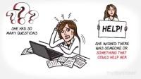 卡通企业商务白板人物简装介绍宣传动画AE模板
