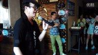 文金桂跟澳门歌唱家林宇帆参加珠海莉亚养生馆音乐沙龙茶话联谊活动