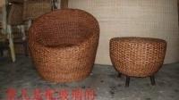 藤木大师-定制藤椅子茶几三件套 藤椅 休闲椅 阳台椅实木 藤椅3件