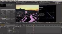 实景合成虚拟地图路线 AE三维跟踪 09