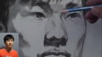第1线美术高考系列丛书-顶尖教学素描头像-蔡亚男教学视频-男青年头像明暗6