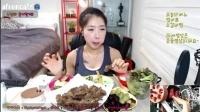 吃出个未来·韩国女主播吃货男主播吃饭直播真的是什么都吃,大胃王减肥美食视频美食人生大学生做菜_标清