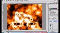 ps制作燃烧的房屋效果
