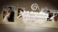 A0884 唯美怀旧翻页风格温馨婚礼婚庆折叠弹出式相册AE模板