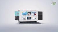 AE模板 E3D工程3D网页展示 手机平板电脑演示网站主题企业商务推广