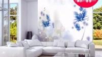 凯乐芙热销梦幻 光花朵简约现代墙纸卧室无纺布壁纸花朵墙纸