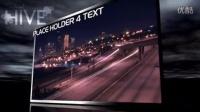 三维城市上空夜景视频展示AE模版 3TB000036