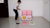 邦禾 简易儿童衣柜安装视频