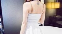 2015夏季新款时尚性感拼接蕾丝挂脖荷叶边无袖裙女连衣裙子潮