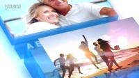 AE363 唯美温馨水晶玻璃相框照片图片企业产品宣传婚礼开场片头AE模板