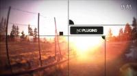 黑色边框动感夕阳落日图片展示AE模版3Td000171