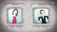 卡通可爱婚礼浪漫图片展示AE模版3Td000229
