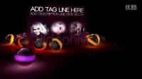 彩色光球动态图片展示AE模版3TB000348
