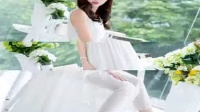 无袖吊带长裙飘逸文艺白色修身女雪纺连衣裙 中长款连衣裙