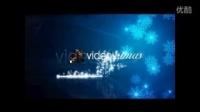 蓝色雪花圣诞节片头AE模板