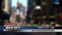 科技酷炫倒计时读秒字幕条AE模版3Td000324